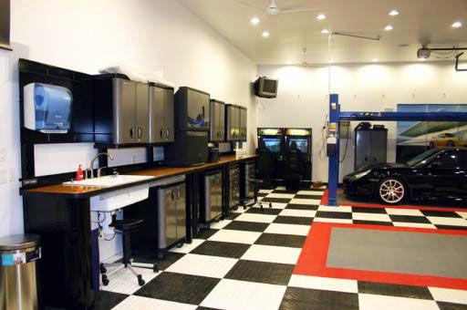 beautiful badass garages pinterest. Black Bedroom Furniture Sets. Home Design Ideas