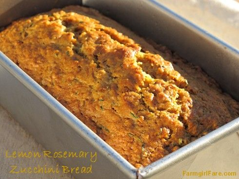Lemon rosemary zucchini bread | I Only Make Great Food | Pinterest