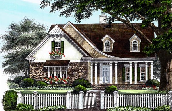 Cottage country craftsman european house plan 86223 for European country house plans