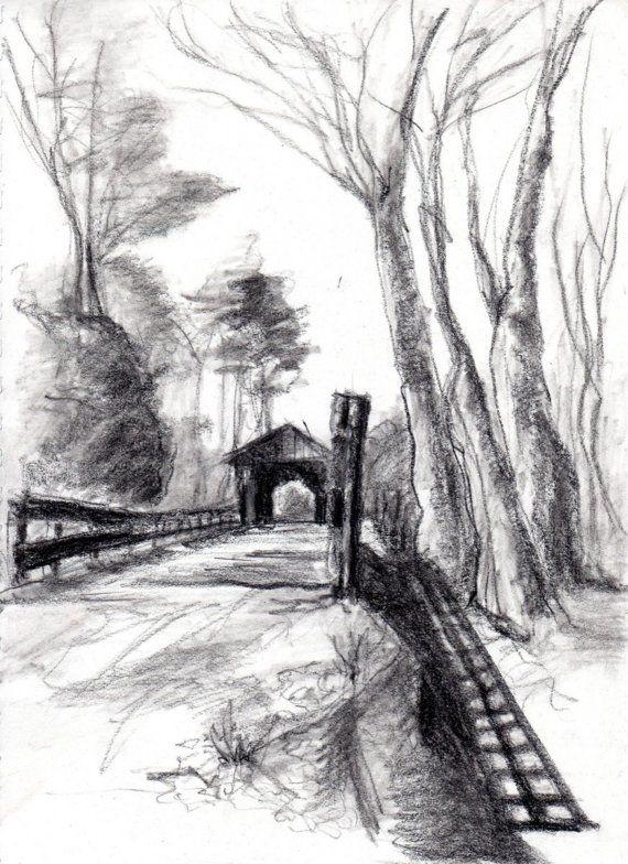 landscape charcoal sketches - photo #12