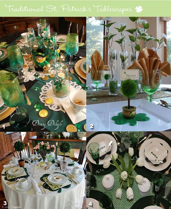 St patrick 39 s table decorations st patrick 39 s day pinterest - Pinterest deco table ...