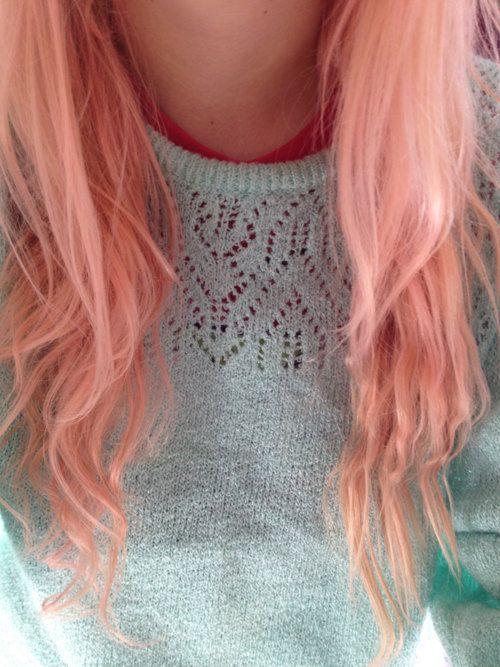 peach hair | Hair & Makeup | Pinterest Peach Hair Tumblr