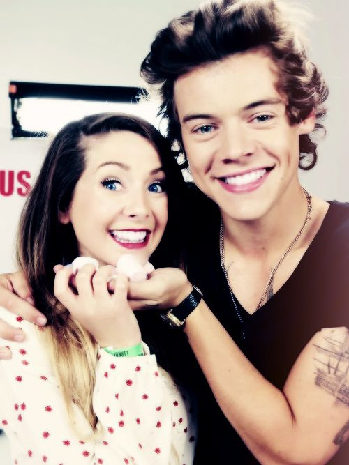 Harry Styles an... Zoella And Harry Styles Manip
