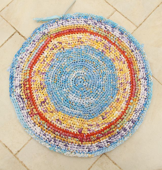 Crocheting A Rug : Crocheted Rag Rug Crochet Goodness Pinterest