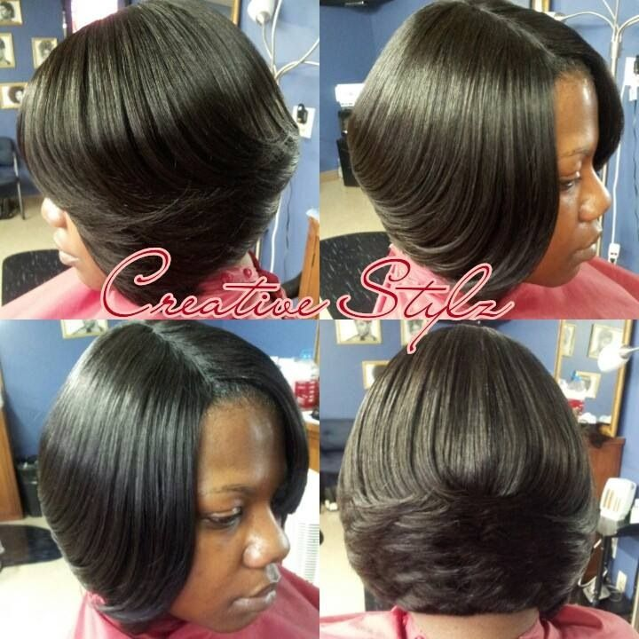 Layered Bob Weave Hairstyles Short weave bob. love it!