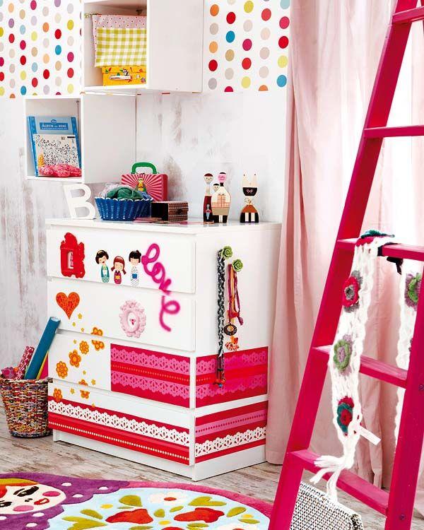 10 colorful ikea hacks mommo design - Stickers bambini ikea ...