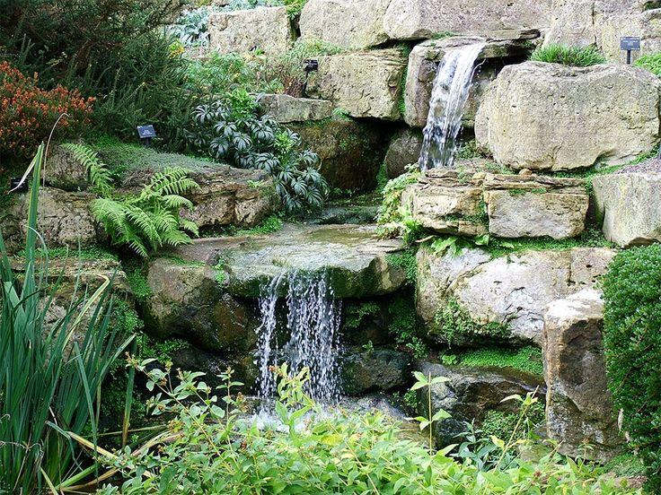 Rock garden waterfall water feature ideas pinterest for Rock garden waterfall designs