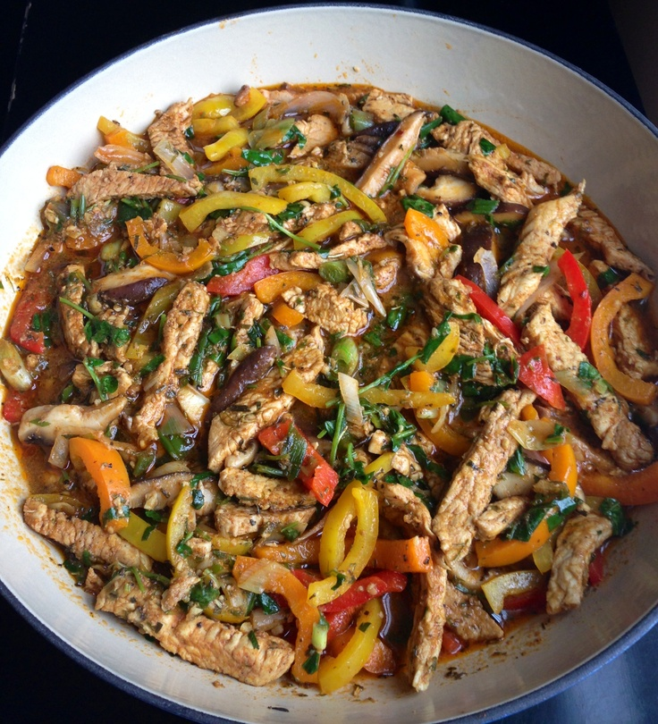 Turkey Stew With Peppers And Mushrooms Recipes — Dishmaps
