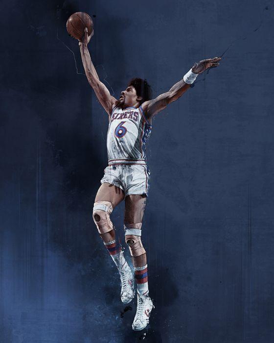 Julius Erving  6 Philadelphie 76ersJulius Erving 76ers