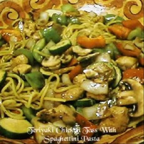 Teriyaki Chicken Toss With Spaghettini Pasta. I altered the recipe and ...