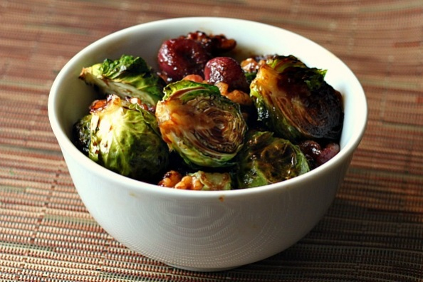 roasted brussel sprouts with grapes and walnuts - Whole Living ...