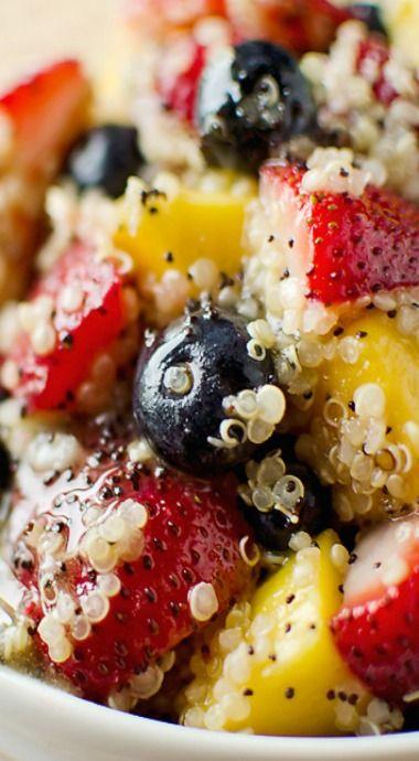 Fruit & Quinoa Salad with Citrus Poppy Seed Dressing | Recipe