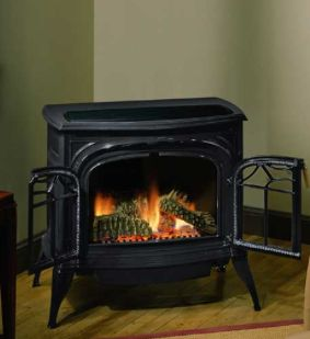 Black Pot Belly Gas Ventless Fireplace Home Pinterest