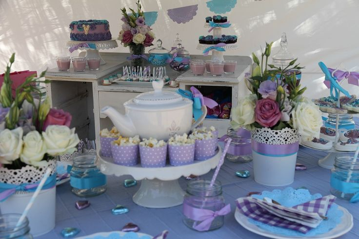 Purple Blue Kids High Tea Party  Kids Birthday Party Ideas  Pintere