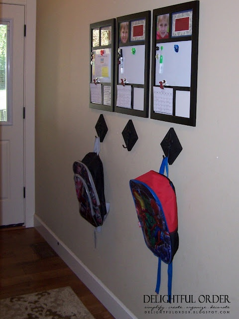 organize kids' schedules, homework, backpacks
