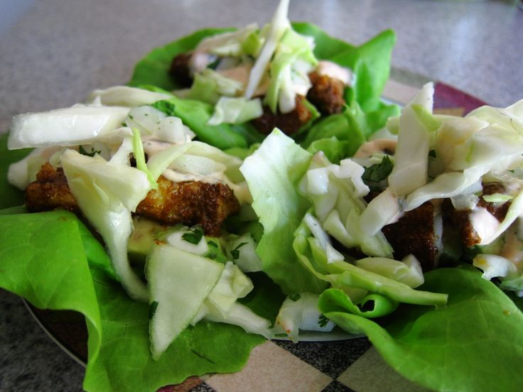 Blackened Fish Taco Lettuce Wraps Inspired by the Blackened Fish Tacos ...