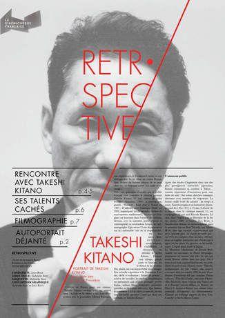 TAKESHI KITANO RETROSPECTIVE by Gabrielle FERRY, via Behance