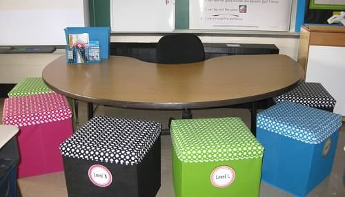 Cool chairs around table