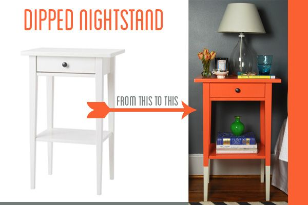 Wandregal Mit Schublade Ikea ~ DIY dipped nightstand Ikea Hemnes Nightstand Hack