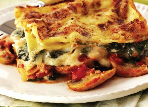 Vegetarian Spinach And Mushroom Lasagna Recipe — Dishmaps