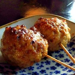 Tsukune: Japanese chicken meatballs | Snacks and Sides | Pinterest