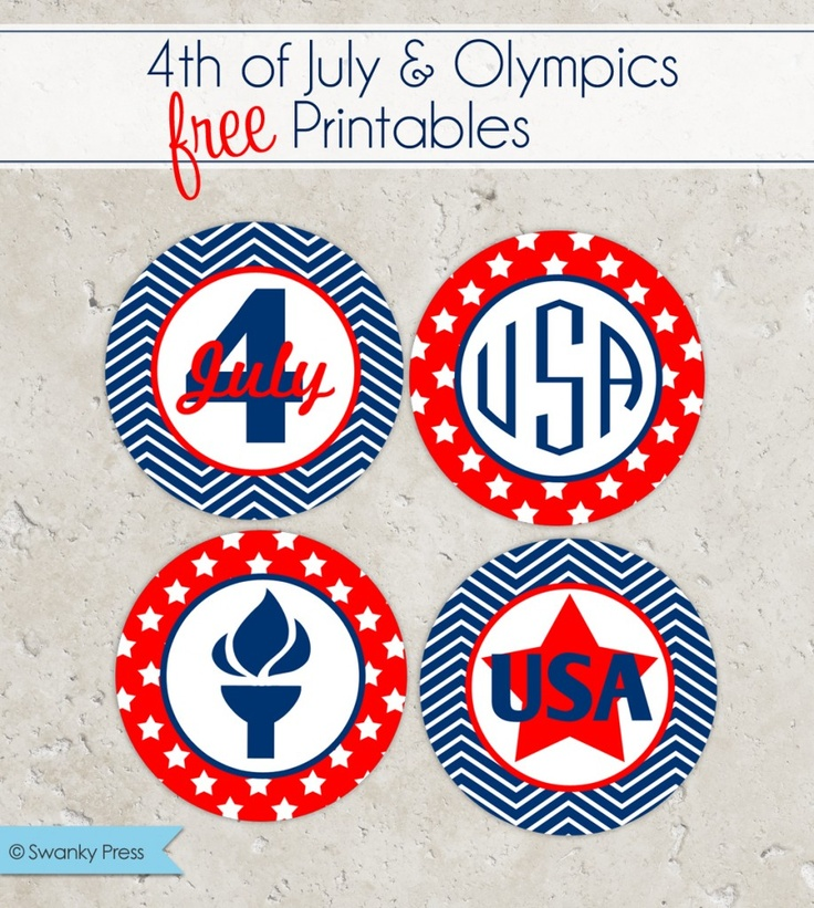 Freebie | Fourth of July and Olympics Party Printables