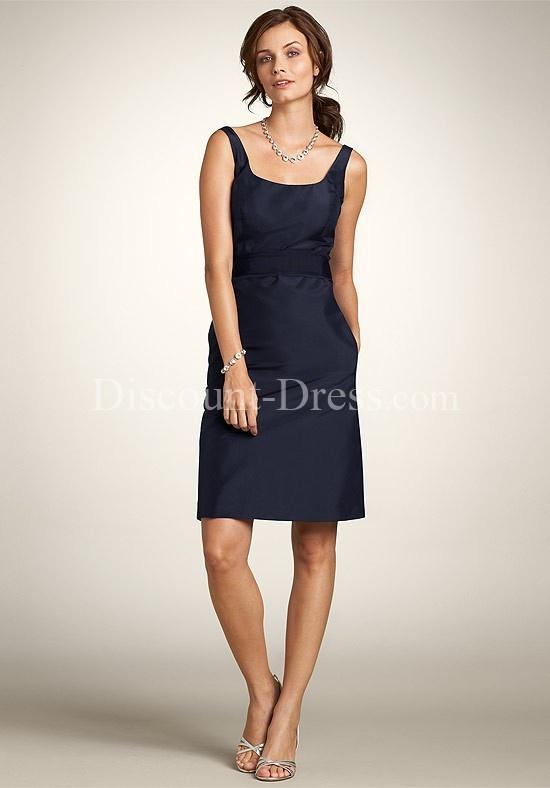 Line scoop knee length taffeta bridesmaid dress style 25597 us