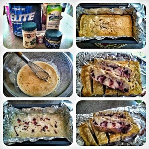 Peanut Butter & Jelly Protein Bars. I used 1/2 cup vanilla protein ...
