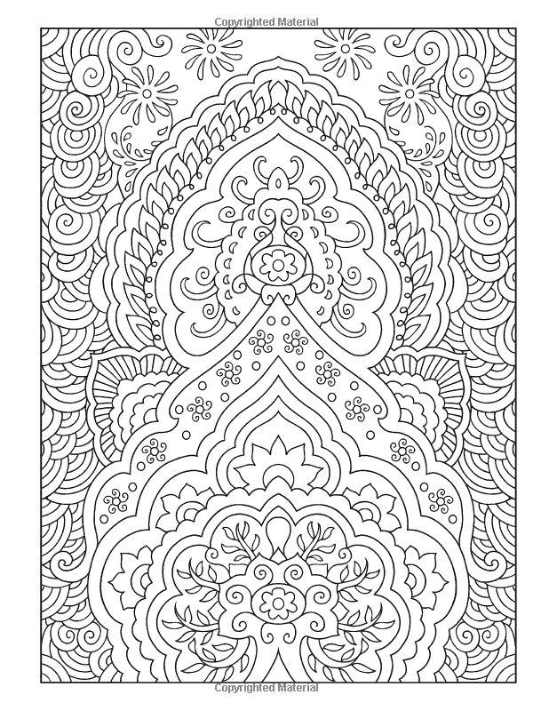 Creative Haven Mehndi Designs Coloring Book Traditional