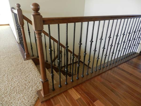 wood and iron railing | Playroom | Pinterest