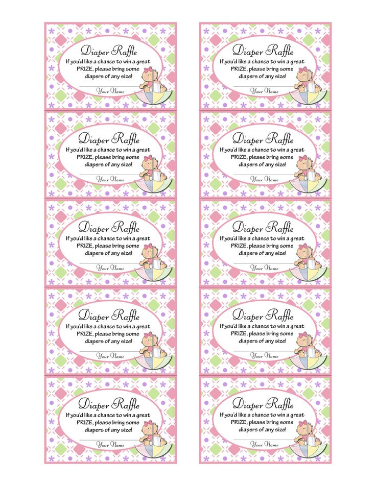printable diaper raffle tickets for baby shower baby girl pink an