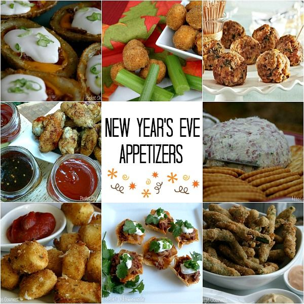 New year 39 s eve party dessert appetizers and fun for Appetizer ideas for new years eve party