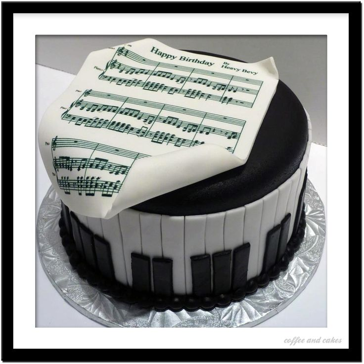 Coffee and Cakes: Sheet Music Cake cakes Pinterest