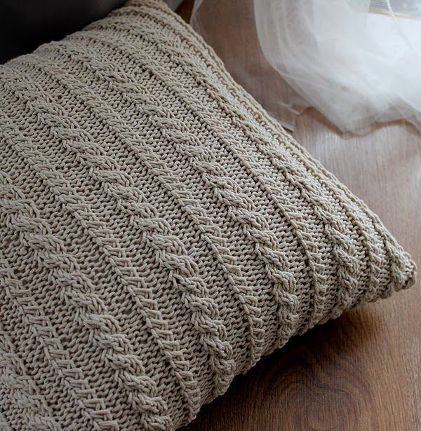 Knit Pillow Cover Pattern : knit pillow cover pattern Knitting and Crochet Pinterest