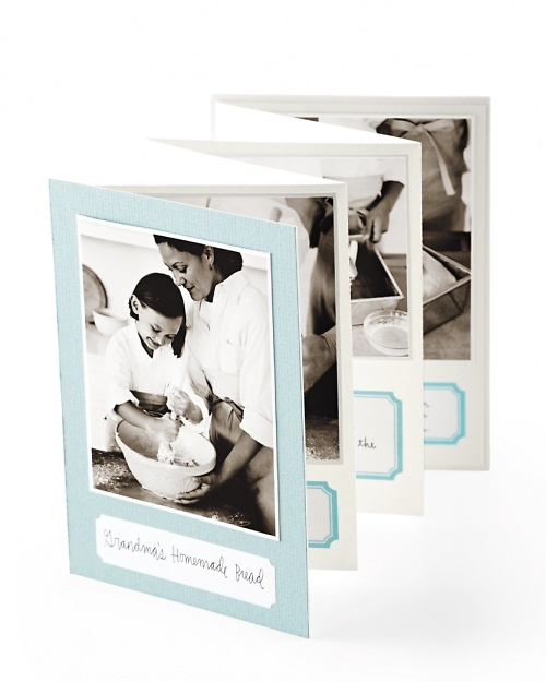Preserve family recipes with step-by-step photos of your relative cooking his or her trademark dish.  Love this!!!!