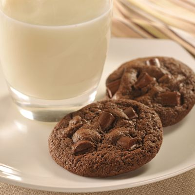 Double Chocolate Chunk Cookies...gooey, deep chocolate flavor, mine ...