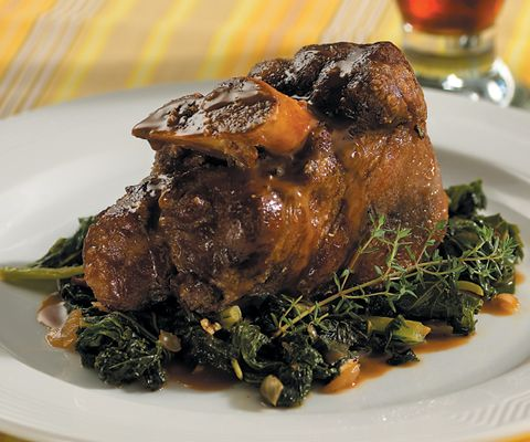 lamb shanks braised with mustard and mint beer braised pork shanks