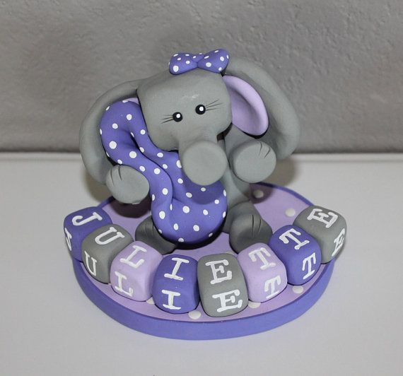custom elephant cake topper for birthday or baby shower on etsy 29