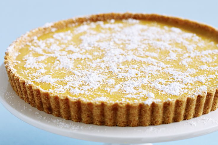 Lemon Tart Recipe - Taste.com.au - very yummy & easy. Cooked the lemon ...