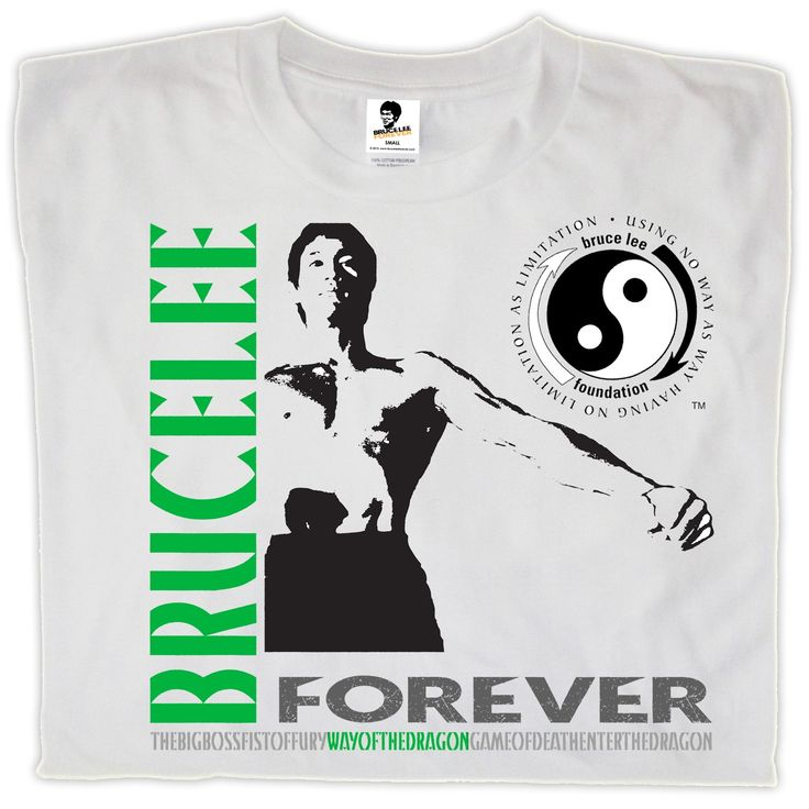 Bruce lee forever way of the dragon t shirt white official bruce lee