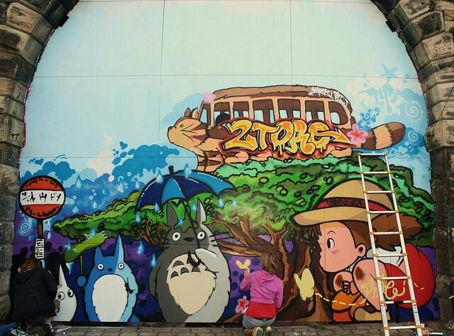 Totoro graffiti  Ghibli  Pinterest