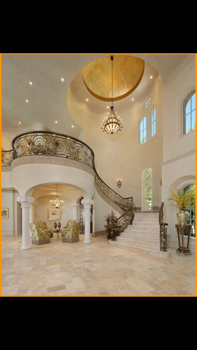 Mediterranean Grand Foyer : Mediterranean grandeur dream house stairways foyers