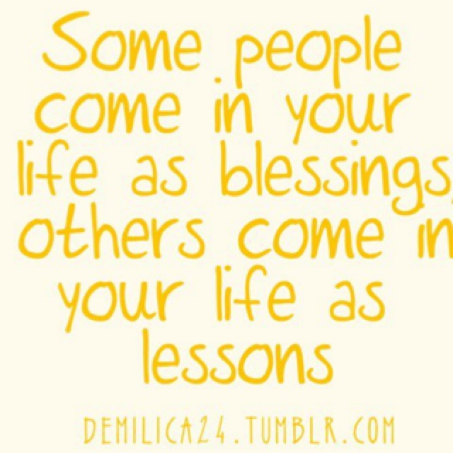 Blessings and lessons.