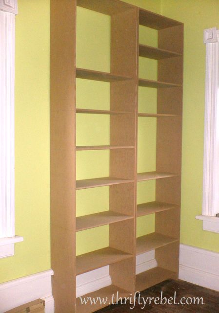 DIY Built in Bookcases 449 x 640