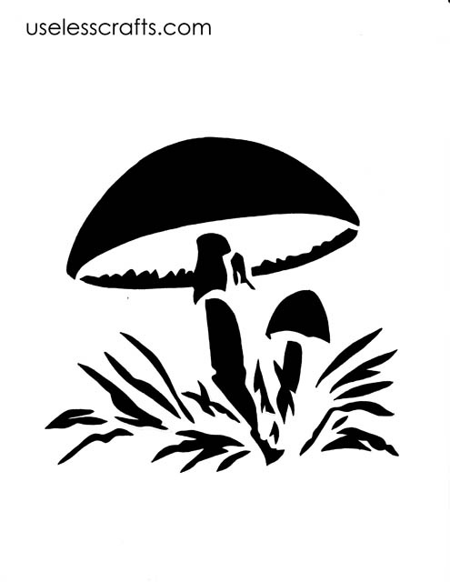 Mushroom Silhouette Pinterest