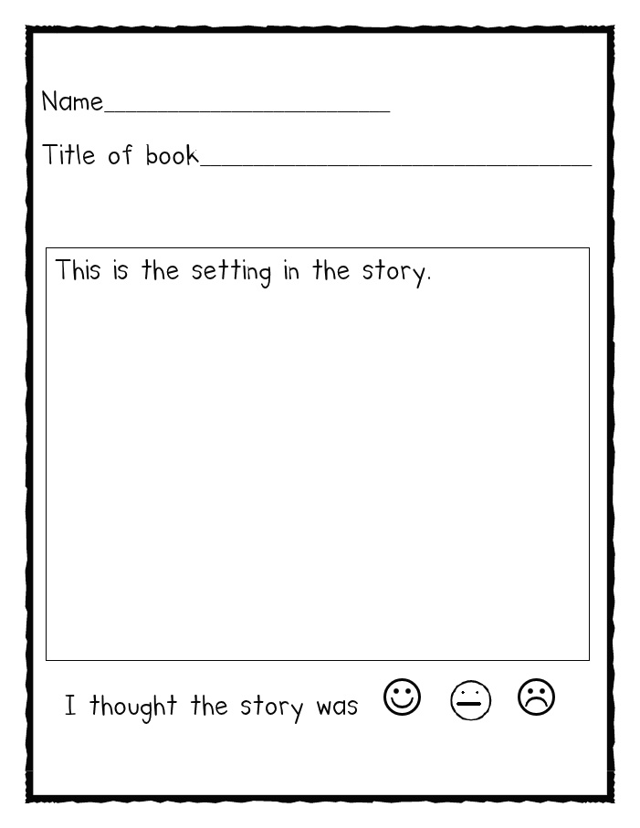 animal book report graphic organizer