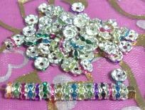 Mix Color Rondelle Spacer Beads x 50pcs (FREE SHIP!)