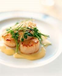 Seared Sea Scallops with a Ginger Lime Beurre Blanc Sauce