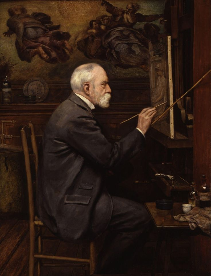 Sir Edward John Poynter por Sir Philip Burne-Jones