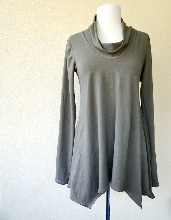 Weekend tunic top custom made organic womens clothing by econica